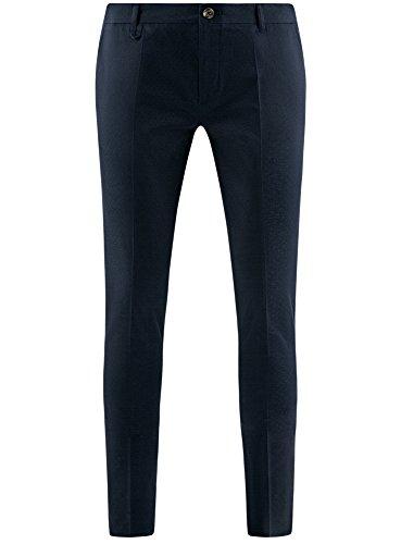 Cotone Pantaloni Uomo Minuscola Trama Blu Oodji In 7900n Ultra Jacquard Con wBH4xIIUq