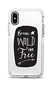 Stylizedd iPhone XS Max Cover Impact Pro White Military Grade Shockproof Case -Brave, Wild And Free