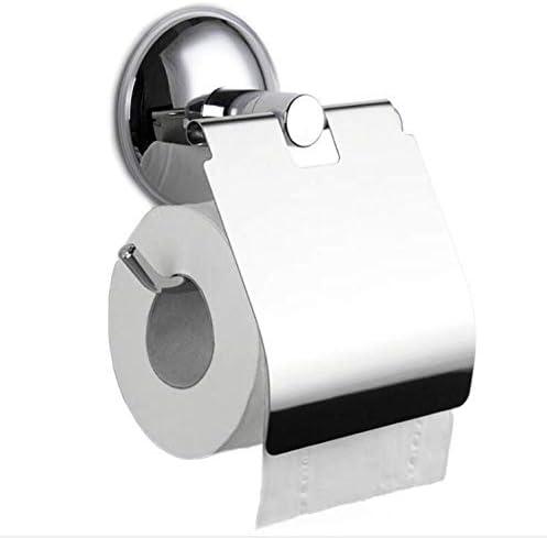 Toilettenpapierhalter Edelstahl Gl/änzend ohne Bohren Handtuchhalter Selbstklebend Kleber mit Saugnapf f/ür Badezimmer