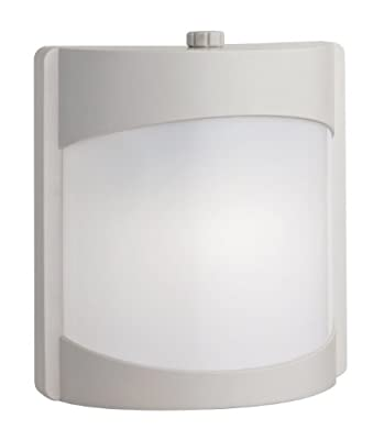 Lithonia Lighting OSWC 13F 120 P LP WH M4 Contemporary Wall Light with One 13-Watt Compact Spiral Fluorscent Lamp