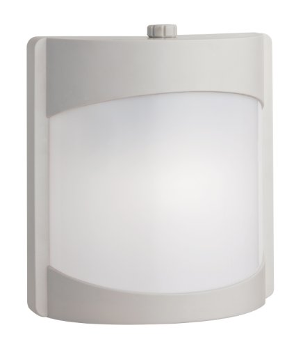 Lithonia Lighting OSWC 13F 120 P LP WH M4 Contemporary Wall Light with One 13-Watt Compact Spiral Fluorscent Lamp (Plastic Lighting Wall)