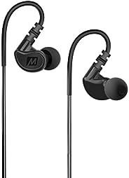 MEE audio M6 Memory Wire In-Ear Wired Sports Earbud Headphones (Black) (2018 Version)