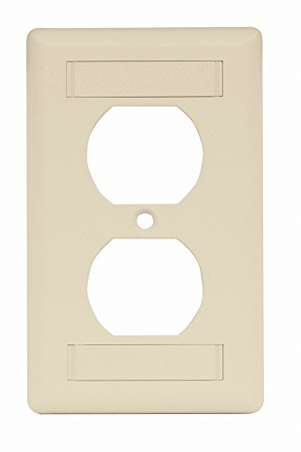 - Hubbell IFP18AL 1 Gang Wall Plate, Cover for Duplex Receptacle, Label Field, Almond (Pack of 25)
