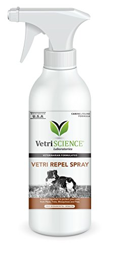 Flea Repel - VetriScience Laboratories - Vetri Repel Flea & Tick Repellent Spray, 16 Ounce