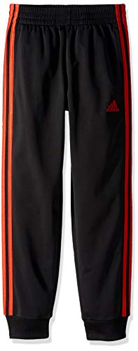 - adidas Boys' Big Tricot Jogger Pant, Imapact Adi Black/Active Red, XL (18/20)