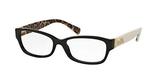 Coach Women's HC6078 Eyeglasses Black/Ivory Wild Beast 52mm (Female Eyeglasses)