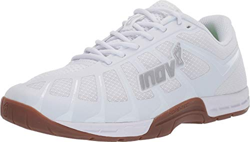 Inov-8 Womens F-Lite 235 V3 | Ultimate Natural Lightweight Performance Training Shoe | Perfect Toe to Heel Drop | Great for Weight Lifting, Rope Climbs, Burpees and Box Jumps | White/Gum 5.5 W US