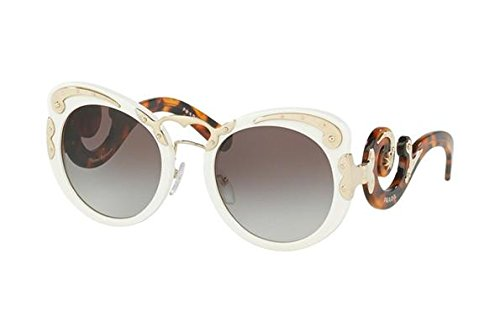 Prada Womens Embellished - Prada Women's Embellished Sunglasses, Ivory/Grey, One Size