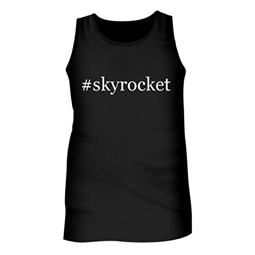 et - Men's Hashtag Adult Tank Top, Black, X-Large (Skyrocket Extended Battery)