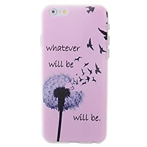 LZX Beautiful Flowers Pattern Embossment Back Case for iPhone 6