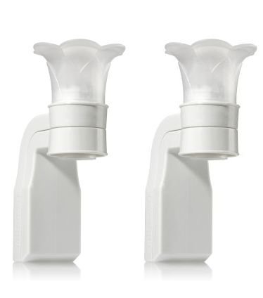 Bath&body Works White Wallflowers Pluggable Home Fragrance Diffuser Pack of 2 ()