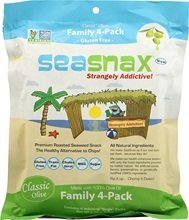 SeaSnax Classic Olive Family 4 Pack 16x 2.16 Oz by Seasnax