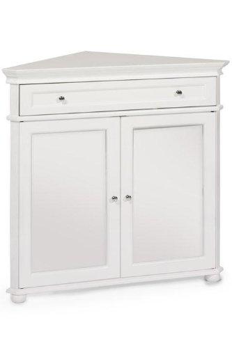 "Hampton Bay 32""w Corner Cabinet With Two Wood Doors, WOOD DOORS, WHITE"