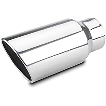 7 outlet 15 Long Exhaust Tip Rolled Angle Cut LCGP 5 inlet Universal Diesel Truck Tailtip With Clamp