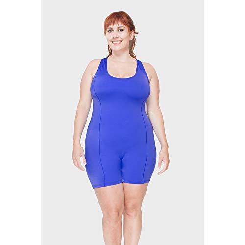 Macaquinho Aqua Plus Size Azul-46