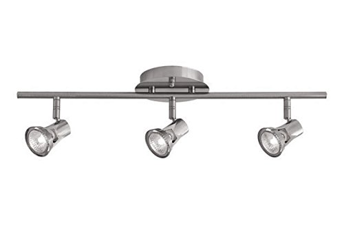 Radionic Hi Tech K_TKL_8853 Becca 22.5'' 3 Light Brushed Nickel Track Light Becca 3 Light Brushed Nickel Track Light