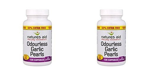 (2 PACK) - N/Aid Garlic Pearls (Odourless) Oad Caps - 33% Free | 90+30+s | 2 PACK - SUPER SAVER - SAVE - Aid Garlic