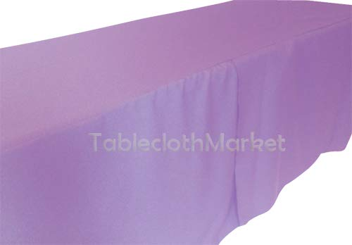 6 ft PURPLE FITTED POLYESTER TABLE COVER Wedding Party Tradeshow Tablecloth