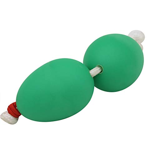 HEALLILY Plastic Wrist Sand Egg African Hand Egg Shakers Percussion Toy (Green)