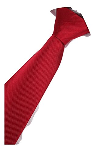 Tie To business Easy L necktie Wine Red Men's formal wedding Pull made lazy Zipper amp;L® Hand UK SxHqwXO1