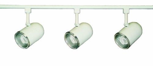 Royal Pacific 7943WH-1341 4-Foot 1 Floating Feed, 3 13-watt 4100K GU24 Roundback Cylinder Heads Straight Track Light Pack, White Finish