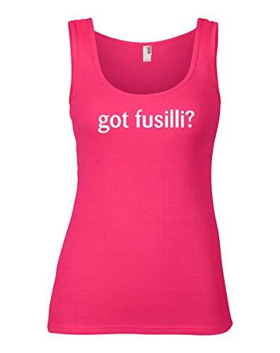 shirtloco Women's Got Fusilli Tank Top, Hot Pink 2XL ()