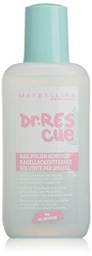 Maybelline New York Make-Up Remover Dr. Rescue / Schonender Nagellackentferner mit pflegenden Wirkstoffen, 1 x 125 ml