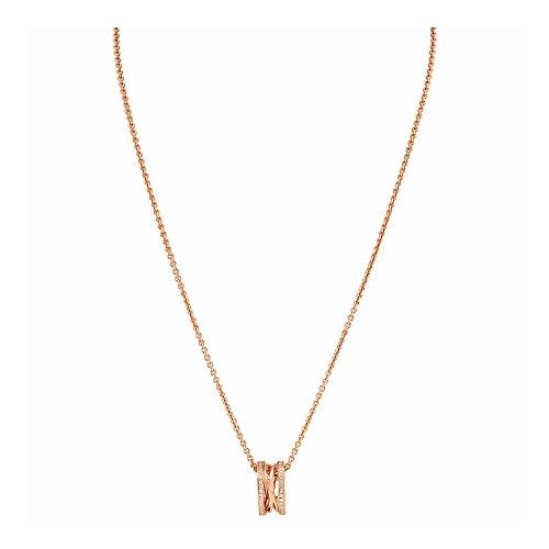 Bvlgari B.Zero1 18K Rose Gold Diamond Pave Necklace (Bvlgari Rose Necklace)