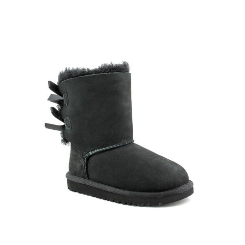 UGG Australia Bailey Bow Black Suede Toddler's Boots Size 6 - 3280T by UGG Australia
