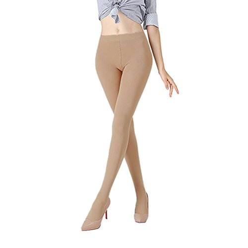 K.T. Fancy 2 Packs Women's 100 Denier Leggswear Solid Color Soft Opaque Footed Silky Tights, Nude, Free (Soft Opaque Tights)