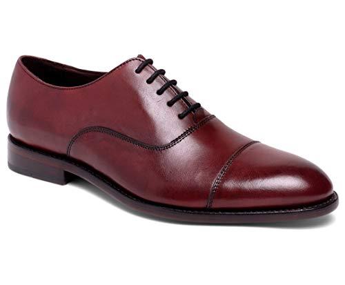 Anthony Veer Men's Dress Shoe Clinton Cap-Toe Oxford Full Grain Leather Goodyear Welted (10 D US, Oxblood Full Grain Calfskin)