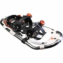 Faber Snow Mountain Aluminum Snowshoes - Strong and Lightweight Aluminum Frame with Anodized Finish, High Abrasion Resistant HDPE Decking, Suspended Pivot with Full Rotation, Light Step and Back End Stays on Snow and Does Not Stick - 9 in x 29 in