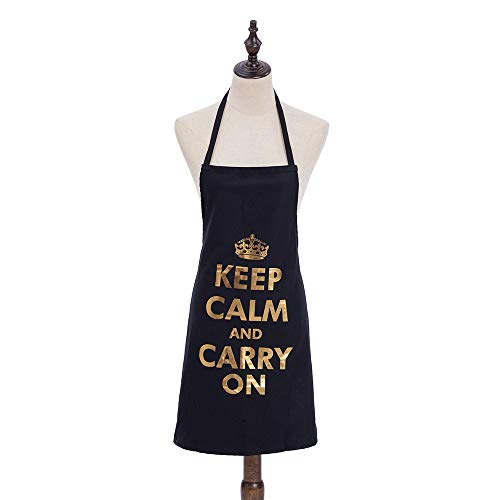Cutewing Funny Work Aprons for Women and Men Suit to Grill BBQ Cooking Kitchen with King Printing,All Cotton - Keep Printing
