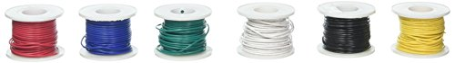 Elenco Solid Hook-Up Wire Kit 6 Colors in a dispenser box # - Wire Stranded Aluminum