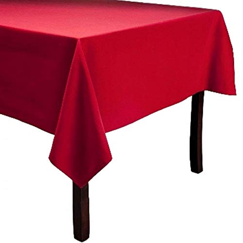 Solid Ruby Holiday Red Fabric Table Cloth 60 x 84 Oblong