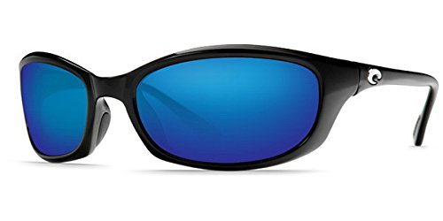 8f109dbcc41f Costa Del Mar Harpoon Sunglasses, Black, Blue Mirror 580 Plastic Lens