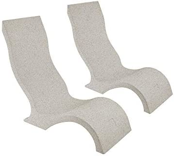 Ledge Lounger in-Pool Chair for 0-9 in. of Water Set of 2, Sandstone