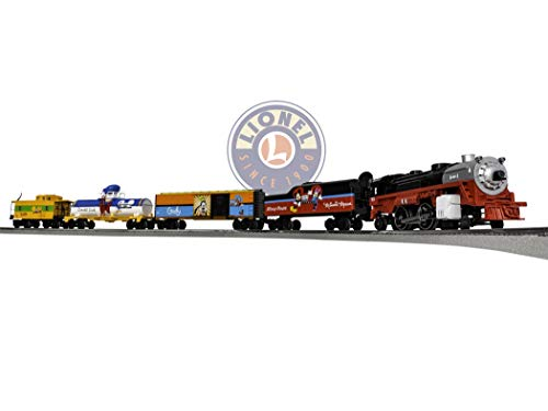 Lionel Disney Mickey & Friends Express Electric O Gauge Model Train Set w/ Remote and Bluetooth - Steam Freight 0 Set