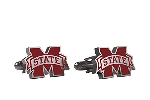 AdSpec NCAA Mississippi State Bulldogs Mens Cufflinks ()