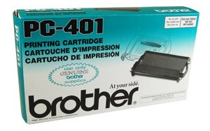Brother Ribbon, PC401, Black, 150 pg yield [Non - Retail Packaged] (Brother Pc401 Black Ribbon)