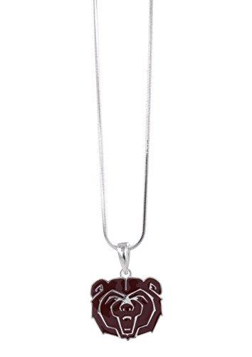Missouri State University Bear Logo Necklace Pendant with Maroon Enamel (Pendant Logo State)