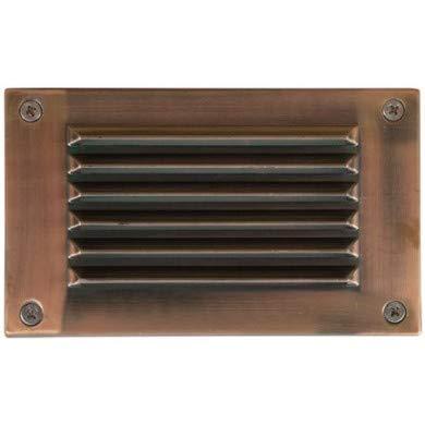 Acp Antique - Dabmar Lighting LV-LED675-ACP 2.5W & 12V JC-LED 18 LEDs Louvered Down Cover Step Light - Antique Copper