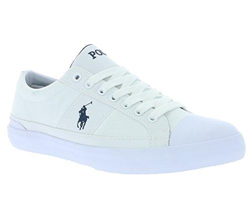 Polo Ralph Lauren Pas Cher Chaussures Churston Hommes D'espadrille Espadrilles Blanches A85 Y2126 C0225 A1557