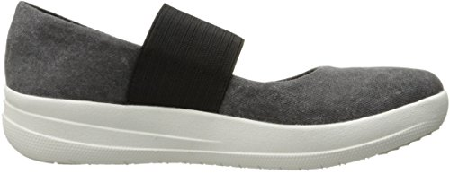 FitFlop Women's F-Sporty Mary Jane Flat, Black, 8.5 M US by FitFlop (Image #7)