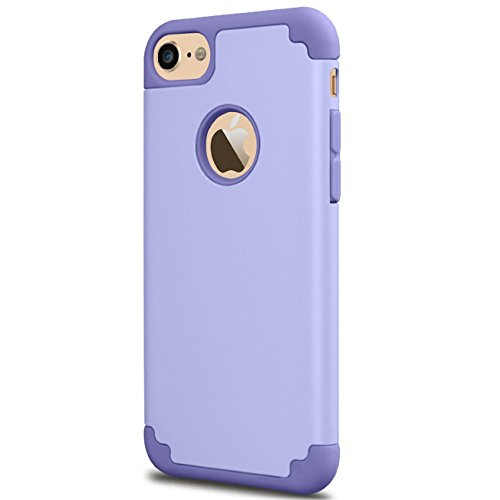 iPhone 6 Plus Case,iPhone 6s Plus Case, iBarbe Slim fit Rubber PC Shockproof cover Case with Heavy Duty Protection Dual Layer Scratch Resistant for Apple iPhone 6 6s Plus (5.5 inch) phone-purple ()