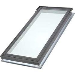 Velux Fsa062005 Fixed Deck Mount Skylight, Temp. Glass, 14-1/2