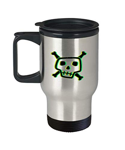 Psychedelic Skull Simple Halloween Costume Idea Scary Bone Collector Travel Mug Gift Skeleton Trippy -