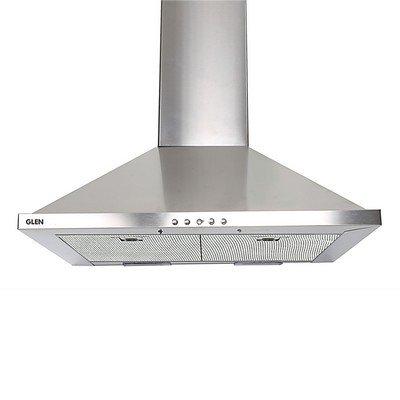 Glen GL6075 60 cm Stainless Steel Kitchen Chimney with Baffle Filter (Silver)