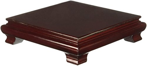 Oriental Furniture Rosewood Square Base Stand – 7 in.