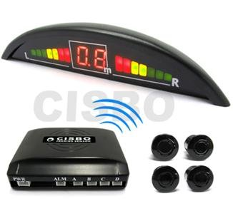 Iron Grey Wireless Car reversing parking Four 4 rear sensors with Colour LED displayer